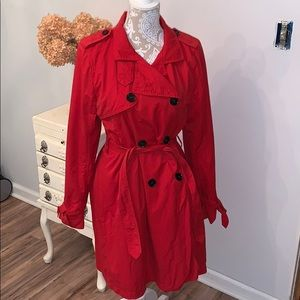 GAP red trench coat